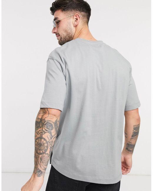 Oversized-футболка С Логотипом -серый Topman для него, цвет: Gray