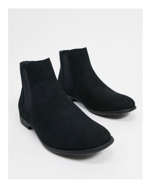 Черные Ботинки Челси Из Искусственной Замши -черный Jack & Jones для него, цвет: Black