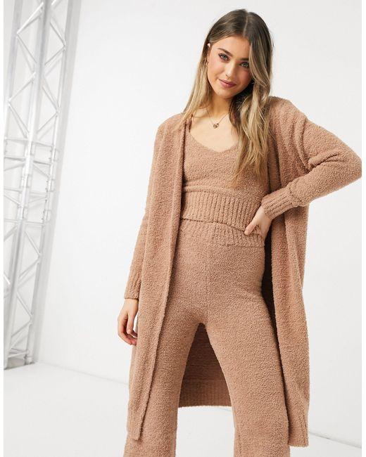 Светло-коричневый Плюшевый Кардиган Макси От Комплекта New Look, цвет: Brown
