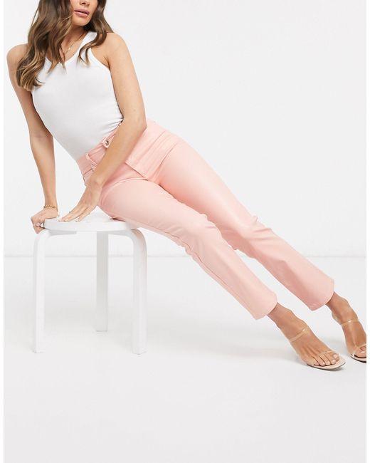 Розовые Джинсы-сигареты С Завышенной Талией ASOS, цвет: Pink