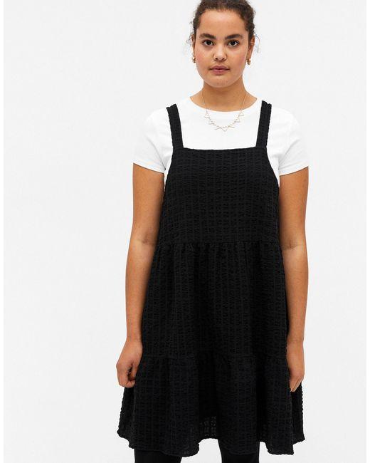 Черное Свободное Платье Мини Из Органического Хлопка Tara-черный Цвет Monki, цвет: Black