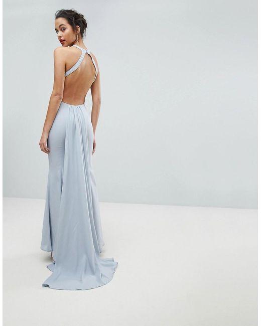 Jarlo Maxi-jurk Met Open Achterkant En Sleep in het Gray