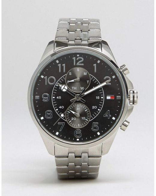 Tommy Hilfiger Metallic Dean Chronograph Bracelet Watch In Stainless Steel for men