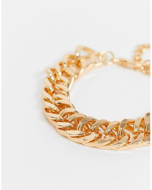 ASOS Metallic Super Chunky Chain Bracelet for men