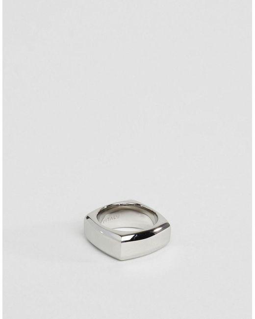 Vitaly   Metallic Fyra Geometric Ring In Silver for Men   Lyst