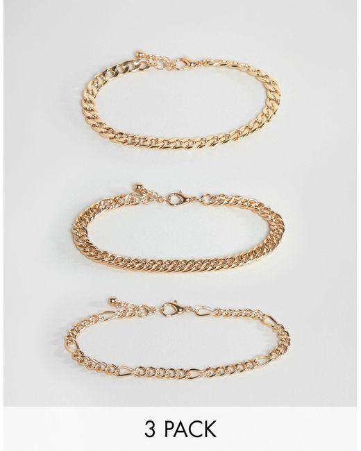 ASOS Metallic Vintage Style Bracelet Chain Pack for men