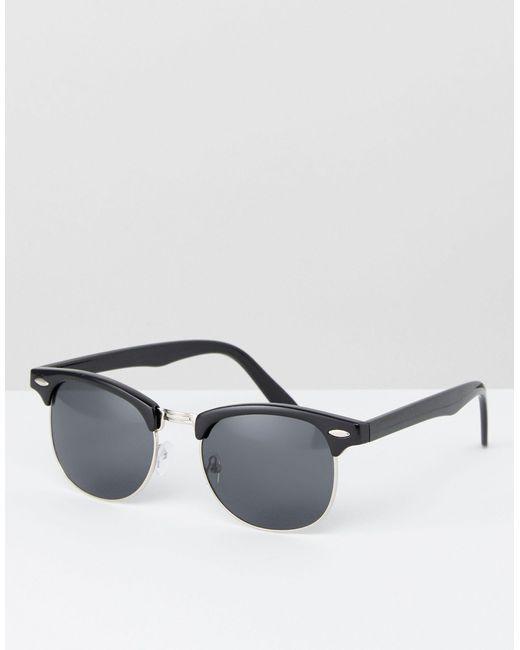 Черные Солнцезащитные Очки В Стиле Ретро ASOS для него, цвет: Black