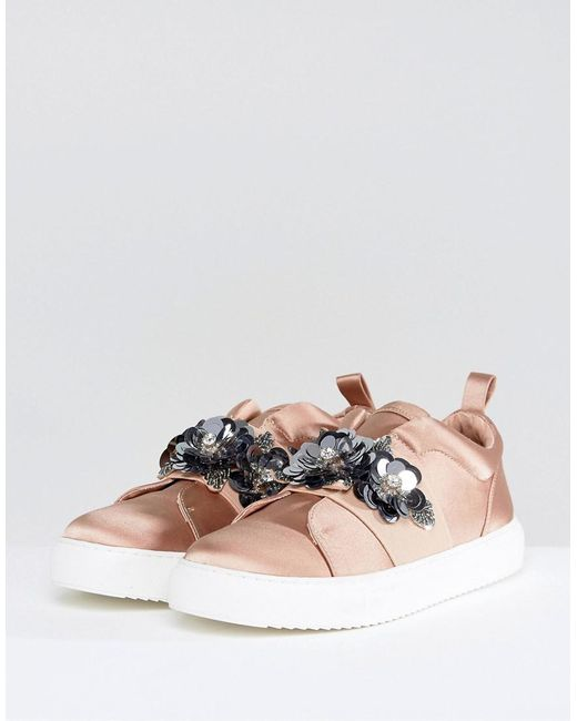 clearance choice DESERT ROSE Embellished Trainers outlet factory outlet cheap sale Manchester qIJKh7MWg
