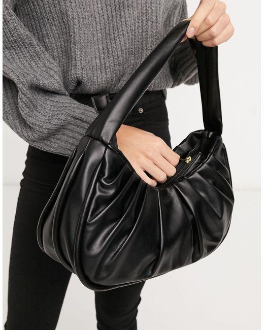 Свободная Черная Сумка На Плечо ASOS, цвет: Black