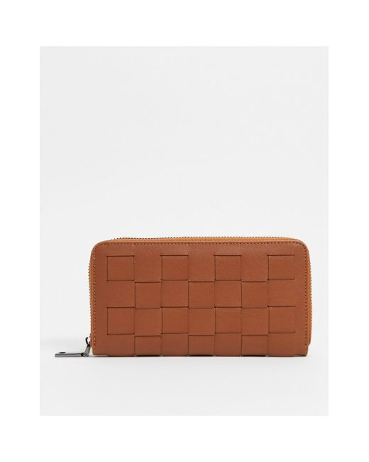Claudia Canova Brown Large Zip Around Wallet
