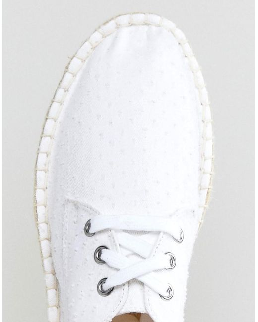 ASOS Derby Espadrilles In White Textured Canvas limited edition for sale sale countdown package sale manchester great sale discount best store to get rLrEakev