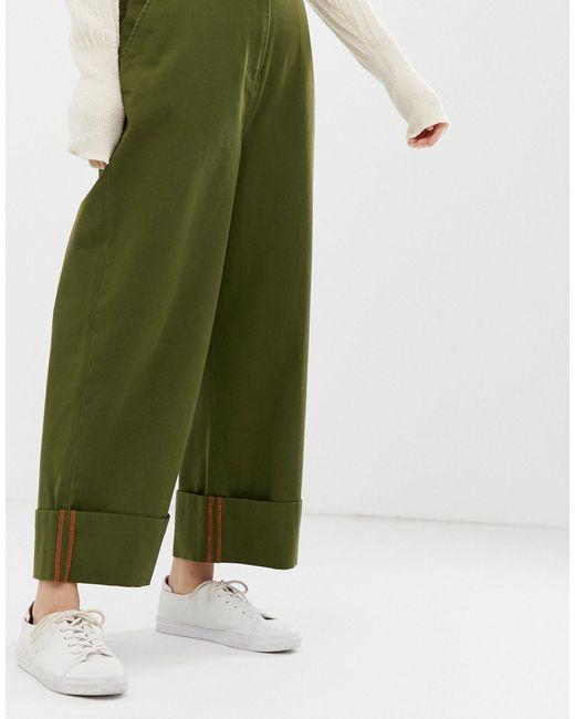 ASOS DESIGN Petite - Pantalon chino droit ASOS en coloris Green