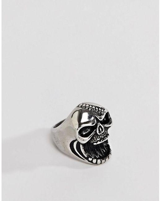 Seven London - Metallic Silver Bottle Opener Skull Ring for Men - Lyst