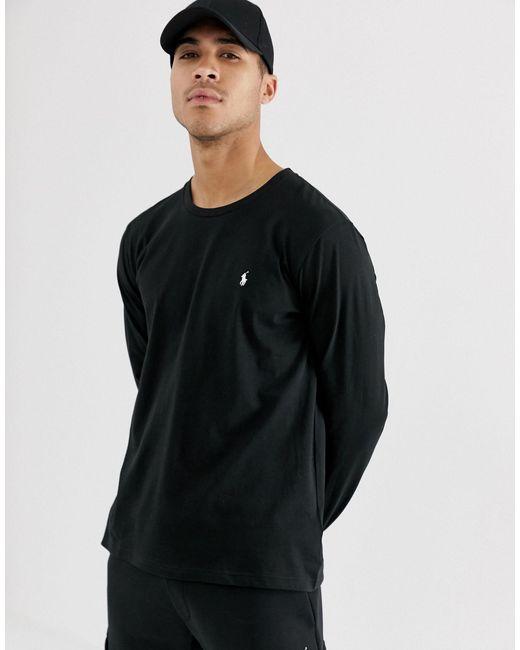Черный Лонгслив Из Мягкого Хлопка Polo Ralph Lauren для него, цвет: Black