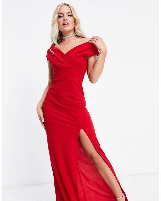 Красное Платье Макси С Глубоким Декольте -красный AX Paris, цвет: Red