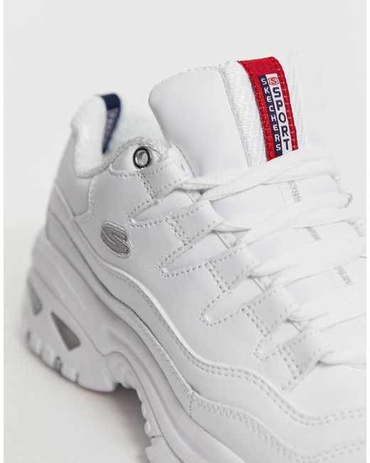 Skechers Leather Energy Trainers in