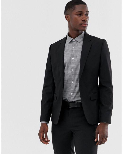 Черный Пиджак Скинни ASOS для него, цвет: Black