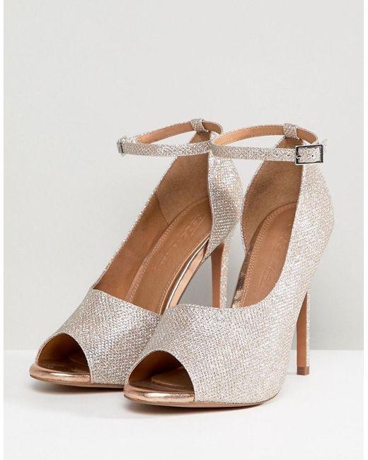 aeece37de17e ... ASOS - Metallic Pippin High Heels - Lyst