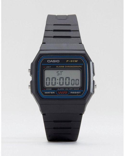58adcb20476f G-Shock F-91w-1xy Classic Digital Watch in Black for Men - Lyst
