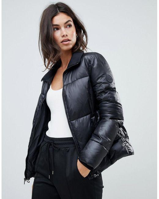 Ugg - Black Izzie Puffer Jacket - Lyst