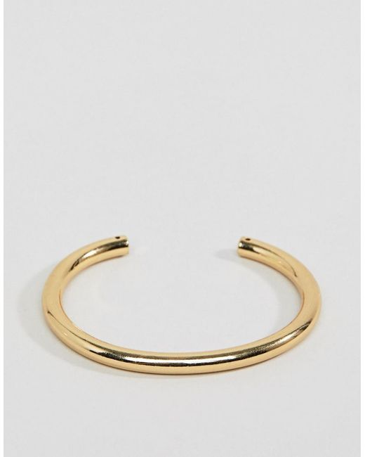 Pilgrim - Metallic Gold Plated Structured Bar Bracelet - Lyst