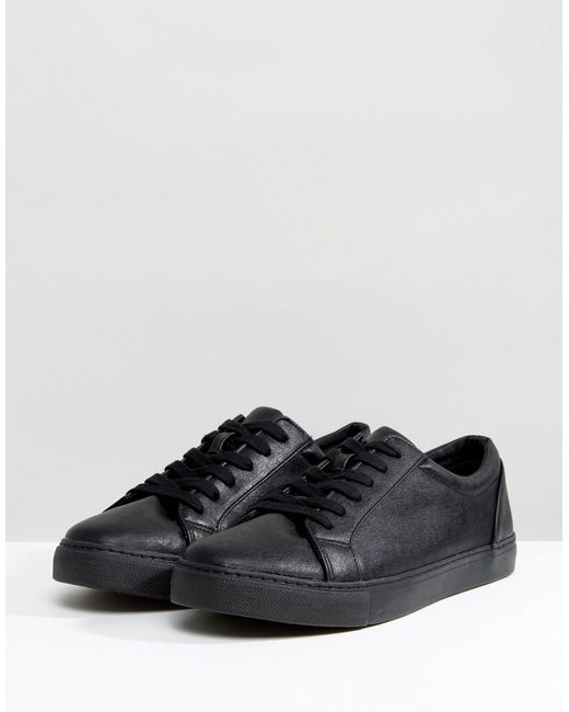 ASOS Black Wide Fit Trainers for men