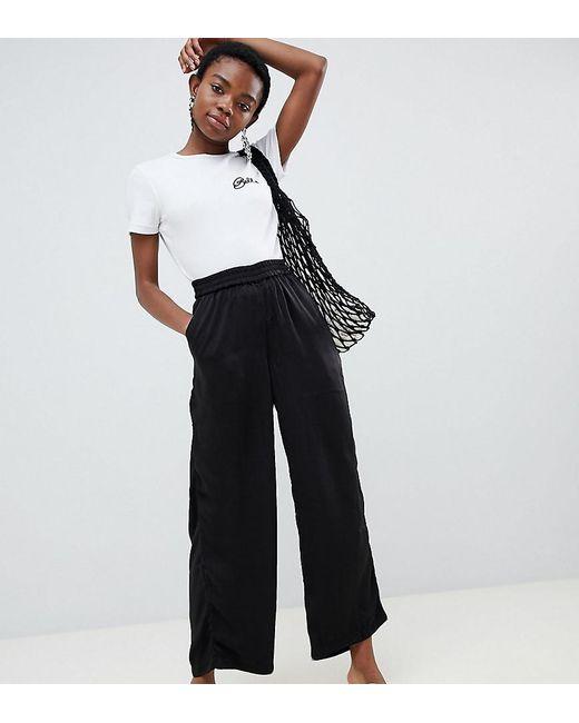 Vero Moda Black Wide Leg Pants With Elasticated Waist
