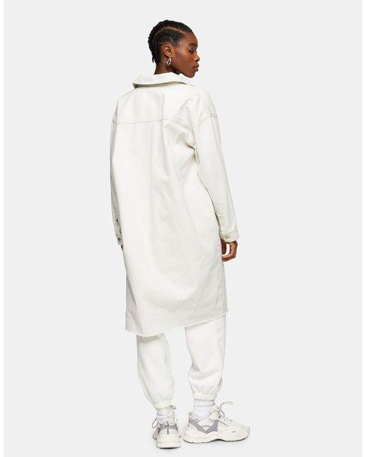 Белый Удлиненный Шакет Из Органического Хлопка В Стиле Oversized TOPSHOP, цвет: White