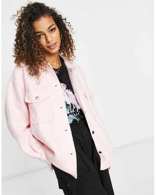 Veste-chemise overzise I Saw It First en coloris Pink