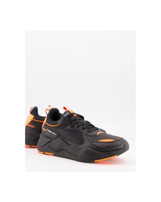Черно-оранжевые Утепленные Кроссовки Rs-x-черный Цвет PUMA для него, цвет: Black