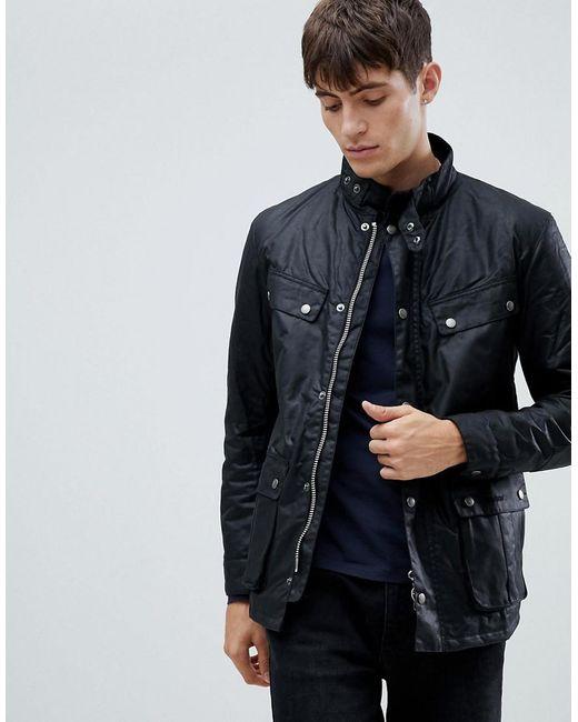 highly coveted range of online here cheaper sale International Slim Fit Duke Wax Jacket In Black
