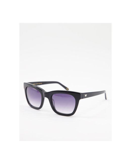 Солнцезащитные Очки В Прямоугольной Оправе Preppy-черный Whistles, цвет: Black