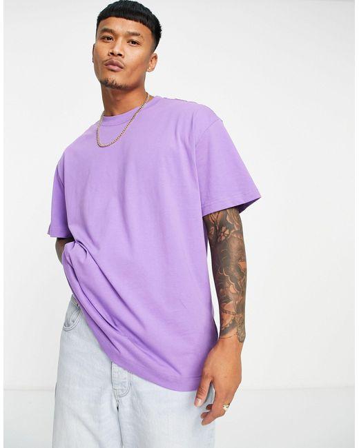 Camiseta extragrande Weekday de hombre de color Purple