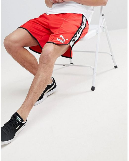 PUMA - Red Super Shorts for Men - Lyst