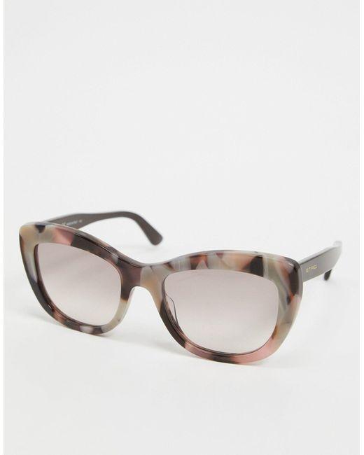 Круглые Солнцезащитные Очки В Черепаховой Оправе -коричневый Цвет Etro, цвет: Multicolor