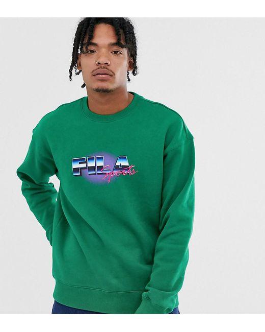 Fila Sweater Met Grafische Print In Groen, Exclusief Bij Asos in het Green voor heren
