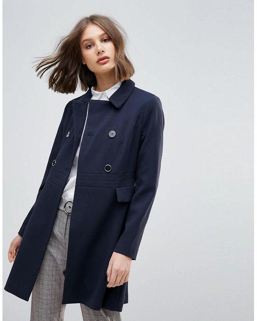 Oasis | Blue Swing Coat | Lyst