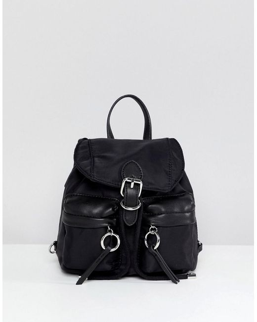 ALDO - Black Mini Nyon Backpack With Ring Pull Detail - Lyst