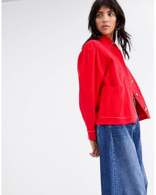 L.F.Markey Red L.f.markey Marlo Frayed Edge Jacket