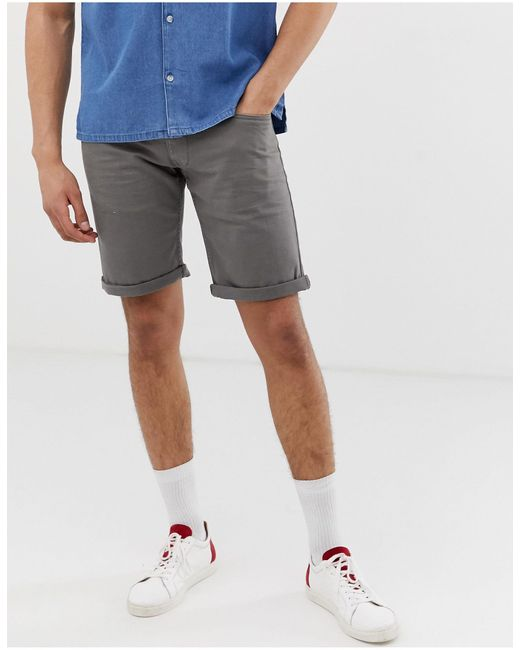 Short en jean slim Esprit pour homme en coloris Gray