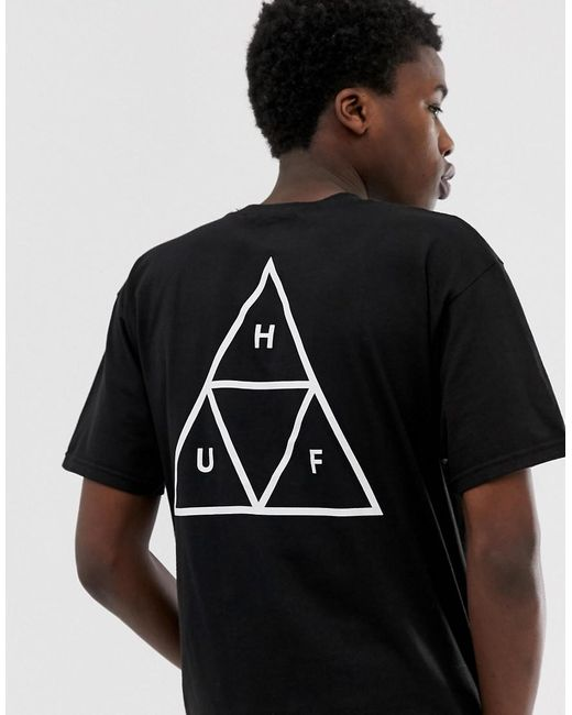 Huf Triple Triangle T-shirt In Black for men