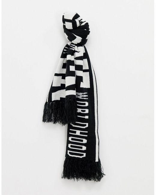 Футбольный Шарф -черный Only & Sons для него, цвет: Black