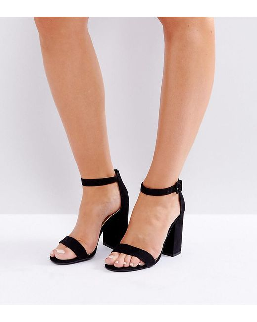 4a88dc8e648 New Look - Black Barely There Block Heeled Sandal - Lyst ...