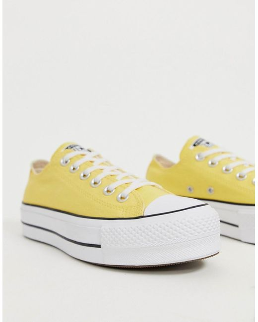 d5b2038168c9a Women's Chuck Taylor All Star Lo Yellow Platform Sneakers