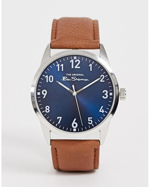 45e42dd48 Ben Sherman - Mens Watch With Brown Leather Strap Bs143 for Men - Lyst ...