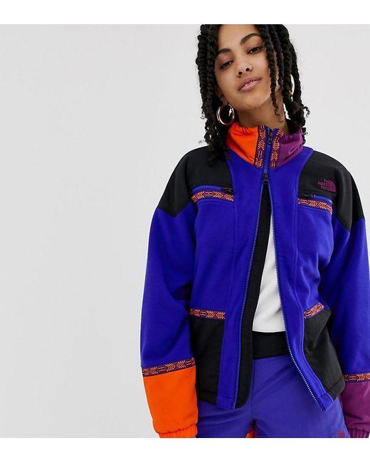 Women's 92 Rage Full Zip Fleece In Geo- Blue Recycled Polyester