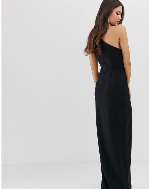 64292abf9886 Lyst - Vesper One Shoulder Maxi Dress In Black in Black
