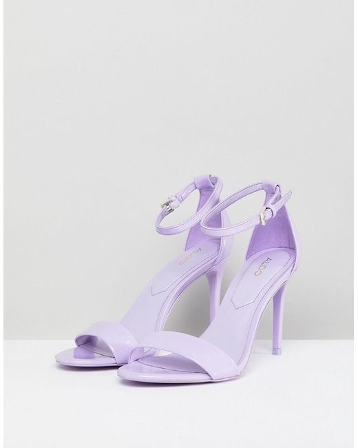 Aldo Two Part Shoe with Ankle Strap in Lilac uMTizLrKNQ