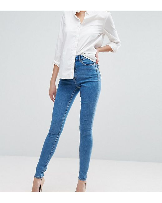 ASOS - Asos Design Tall Ridley Skinny Jeansin Lily Pretty Mid Wash Blue - Lyst