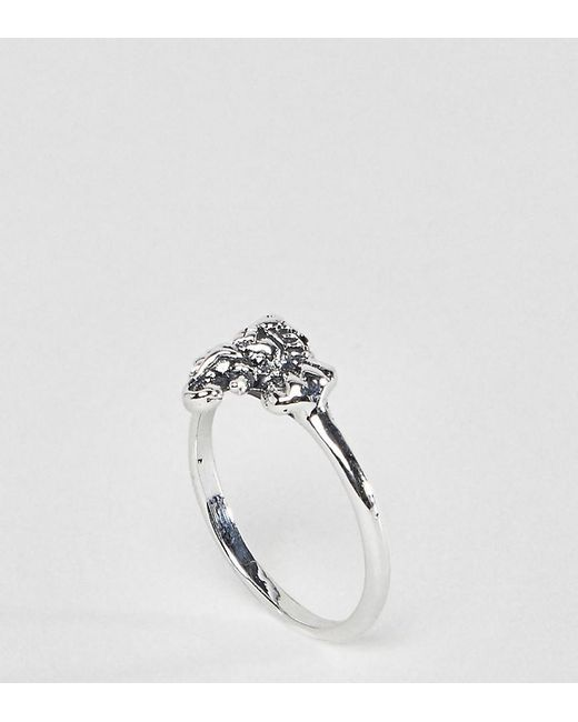 ASOS - Metallic Ring With Elephant Detail In Sterling Silver - Lyst